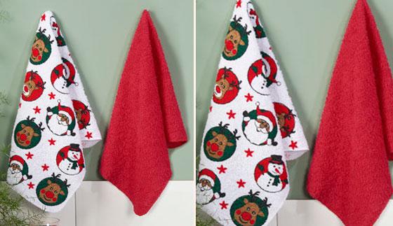 Set de secadores x 2 navidad Natal